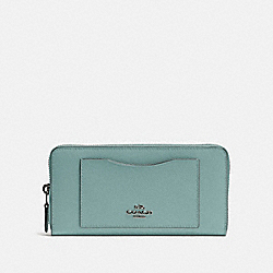 ACCORDION ZIP WALLET - QB/SAGE - COACH F54007
