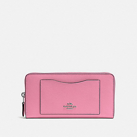 COACH ACCORDION ZIP WALLET - PINK/BLACK ANTIQUE NICKEL - F54007