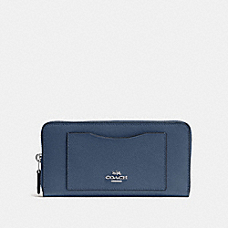 ACCORDION ZIP WALLET - DENIM/SILVER - COACH F54007