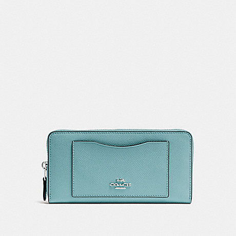 COACH ACCORDION ZIP WALLET - MARINE/SILVER - F54007