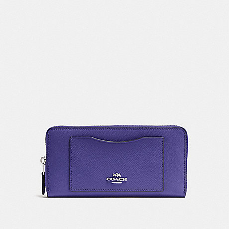 COACH ACCORDION ZIP WALLET - VIOLET/SILVER - F54007