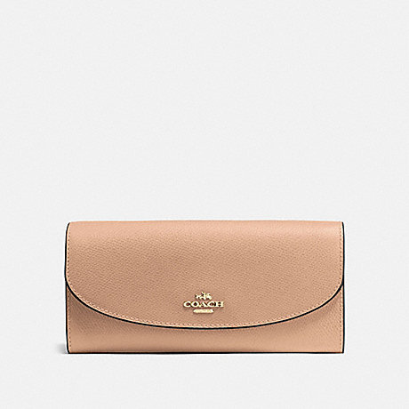 COACH SLIM ENVELOPE WALLET - BEECHWOOD/IMITATION GOLD - F54009