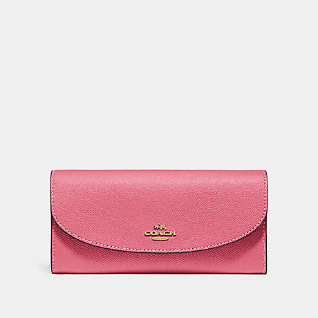 COACH SLIM ENVELOPE WALLET - STRAWBERRY/IMITATION GOLD - F54009