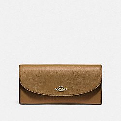 COACH SLIM ENVELOPE WALLET - LIGHT SADDLE/LIGHT GOLD - F54009