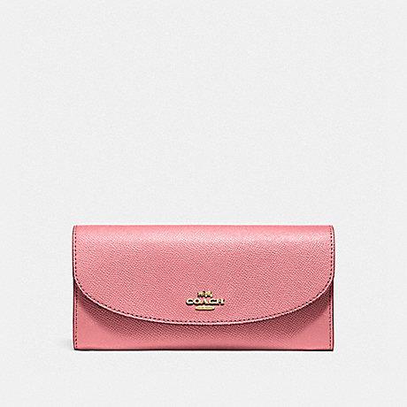 COACH SLIM ENVELOPE WALLET - Vintage Pink/Imitation Gold - f54009