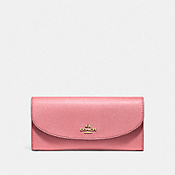 SLIM ENVELOPE WALLET - VINTAGE PINK/IMITATION GOLD - COACH F54009