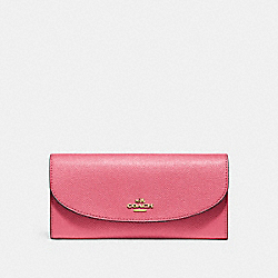 COACH SLIM ENVELOPE WALLET - PEONY/light gold - F54009