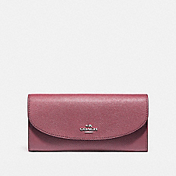 SLIM ENVELOPE WALLET - LIGHT GOLD/ROUGE - COACH F54009