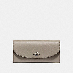 COACH SLIM ENVELOPE WALLET - SILVER/FOG - F54009