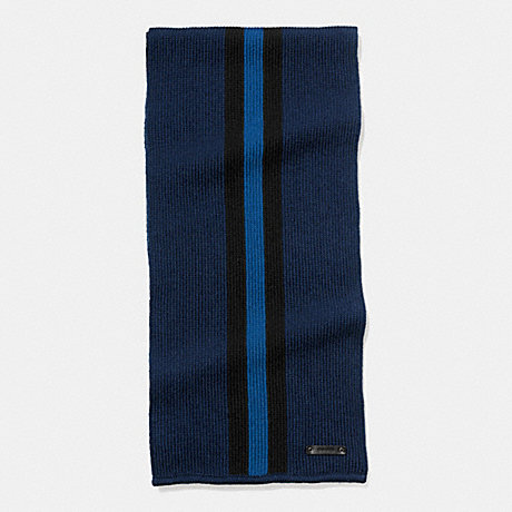 COACH KNIT VARSITY STRIPE SCARF - MIDNIGHT/BLACK/DENIM - f54088