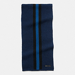 KNIT VARSITY STRIPE SCARF - f54088 - MIDNIGHT/BLACK/DENIM