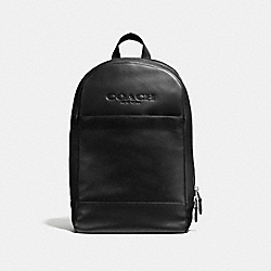CHARLES SLIM BACKPACK IN SPORT CALF LEATHER - f54135 - BLACK