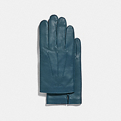 COACH BASIC LEATHER GLOVE - DENIM - F54182