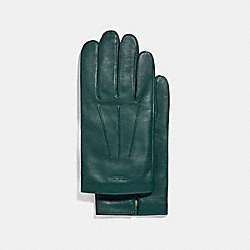 COACH BASIC LEATHER GLOVE - FOREST - F54182