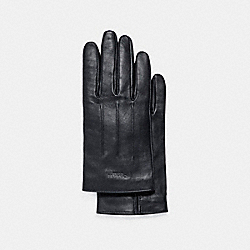LEATHER GLOVES - GRAPHITE - COACH F54182