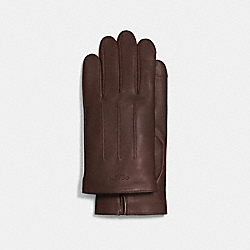 COACH BASIC LEATHER GLOVE - MAHOGANY - F54182