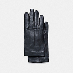 COACH BASIC LEATHER GLOVE - MIDNIGHT - F54182