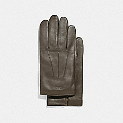 LEATHER GLOVES - OLIVE - COACH F54182