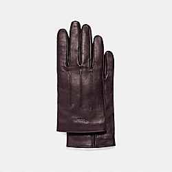 COACH BASIC LEATHER GLOVE - OXBLOOD - F54182