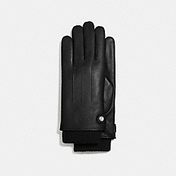COACH 3-IN-1 LEATHER GLOVE - BLACK - F54183