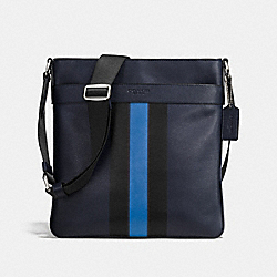 CHARLES CROSSBODY IN VARSITY LEATHER - MIDNIGHT/DENIM - COACH F54193