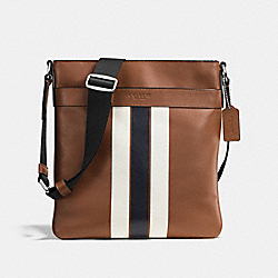 CHARLES CROSSBODY IN VARSITY LEATHER - DARK SADDLE/MIDNIGHT - COACH F54193