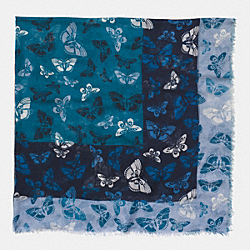 BUTTERFLY WOVEN OVERSIZED SQUARE - BRIGHT MINERAL - COACH F54232