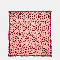 SCATTERED LEAVES OVERSIZED SQUARE - f54234 - BLUSH MULTI