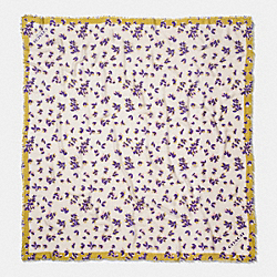 SCATTERED LEAVES OVERSIZED SQUARE - f54234 - CHALK MULTI
