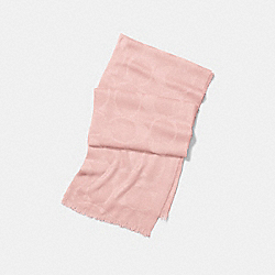 LIGHTWEIGHT SIGNATURE C SHAWL - BLUSH - COACH F54248