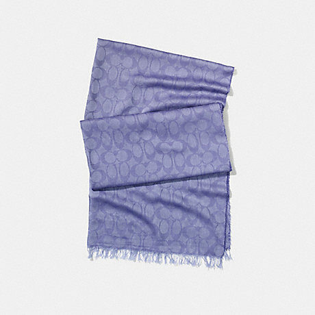 COACH LIGHTWEIGHT SIGNATURE C SHAWL - CORNFLOWER - f54248