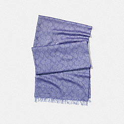 LIGHTWEIGHT SIGNATURE C SHAWL - CORNFLOWER - COACH F54248