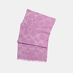 LIGHTWEIGHT SIGNATURE C SHAWL - LILAC - COACH F54248