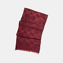 LIGHTWEIGHT SIGNATURE C SHAWL - OXBLOOD - COACH F54248
