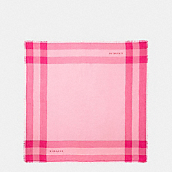 WINDOWPANE CHALLIS SCARF - STRAWBERRY - COACH F54253