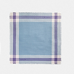 WINDOWPANE CHALLIS - CORNFLOWER/LIGHT PURPLE - COACH F54253