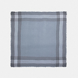 COACH WINDOWPANE CHALLIS SCARF - PALE BLUE - F54253