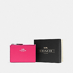 BOXED MINI SKINNY ID CASE - SV/AMARANTH - COACH F54439