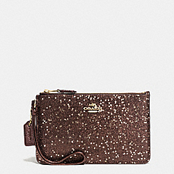 COACH BOXED SMALL WRISTLET IN STAR GLITTER FABRIC - IMITATION GOLD/BRONZE - F54462