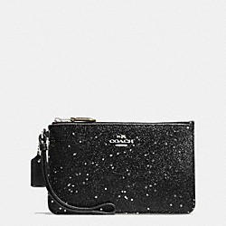 COACH BOXED SMALL WRISTLET IN STAR GLITTER FABRIC - SILVER/BLACK - F54462