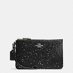 BOXED SMALL WRISTLET IN STAR GLITTER FABRIC - SILVER/BLACK - COACH F54462