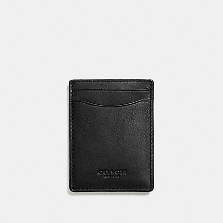 COACH 3-IN-1 CARD CASE - BLACK - F54466