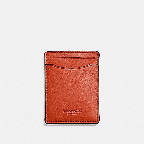 COACH 3-IN-1 CARD CASE - DEEP ORANGE - F54466