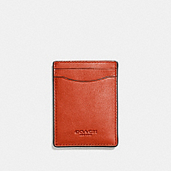 3-IN-1 CARD CASE - DEEP ORANGE - COACH F54466