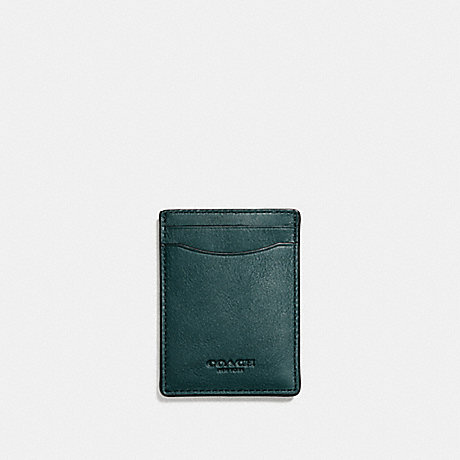 COACH 3-IN-1 CARD CASE - FOREST - F54466
