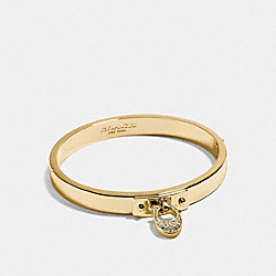 COACH SIGNATURE C HINGED BANGLE - GOLD - F54492