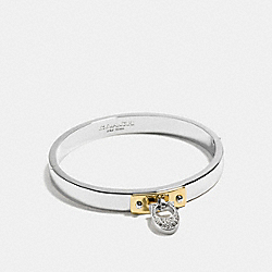 SIGNATURE C HINGED BANGLE - SILVER/GOLD - COACH F54492