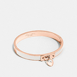COACH ENAMEL SIGNATURE C HINGED BANGLE - ROSEGOLD/CHALK - F54495