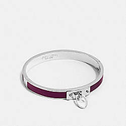 ENAMEL SIGNATURE C HINGED BANGLE - SILVER/FUCHSIA - COACH F54495