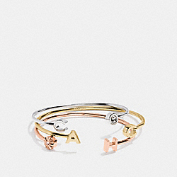 COACH LETTERS CUFF BANGLE SET - f54502 - GOLD/SILVER
